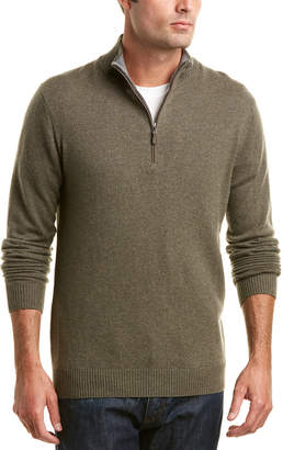 Forte Cashmere Quarter-Zip Sweater