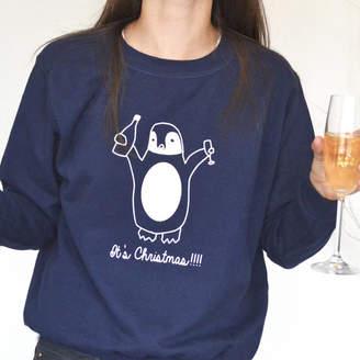 Original Penguin Solesmith Drunk Penguin Personalised Jumper