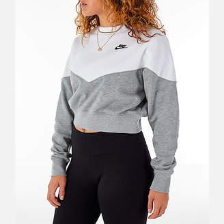 Nike Women's Sportswear Heritage Crop Crew Sweatshirt