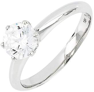 Bony Levy Halo Cubic Zirconia Six-Prong Solitaire Ring