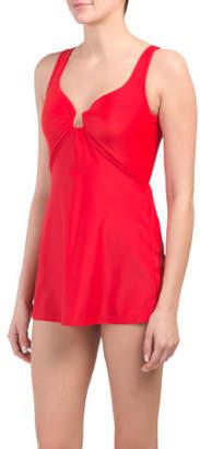 Tummy Control One-piece Swim Dress