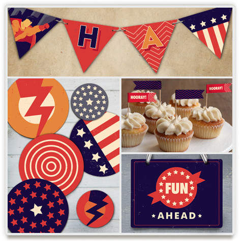 Super Heroes Banner Perfect Party