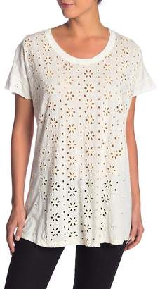 Johnny Was Eyelet Lace Short Sleeve Tee