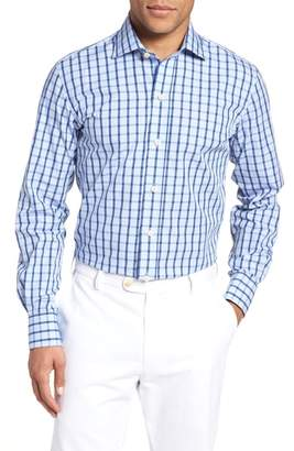 Ledbury Hayden Trim Fit Windowpane Dress Shirt