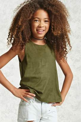 Forever 21 Girls Faux Suede Top (Kids)