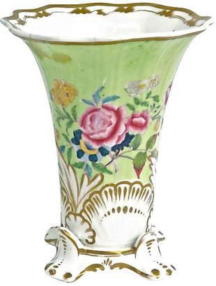 One Kings Lane Vintage Porcelain Antique Flared Flower Vase - Vermilion Designs