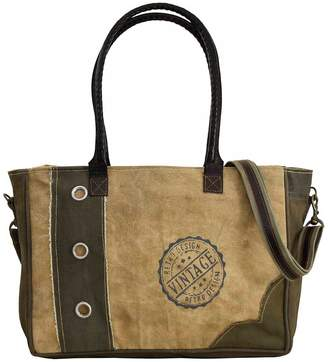 Vintage Addiction Recycled Tent Vintage Life Zipped Tote Bag