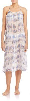 Venice Beach Printed Silk Dress $415 thestylecure.com