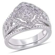 Sonatina Set-of-2 Sterling Silver & Diamond Rings