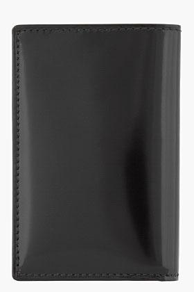 Comme des Garcons WALLETS Black and pink patent Card Holder