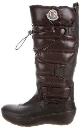 Moncler Quilted Round-Toe Boots