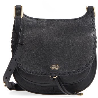 Vince Camuto Small Lidia Leather Crossbody Bag - Black