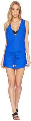 Luli Fama Cosita Buena T-Back Mini Dress Cover-Up Women's Swimwear