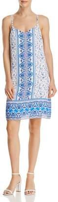 Aqua Paisley Print Shift Dress - 100% Exclusive