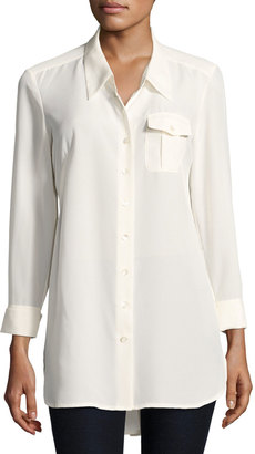 NIC+ZOE Cool Mist Button-Front Shirt, White $79 thestylecure.com