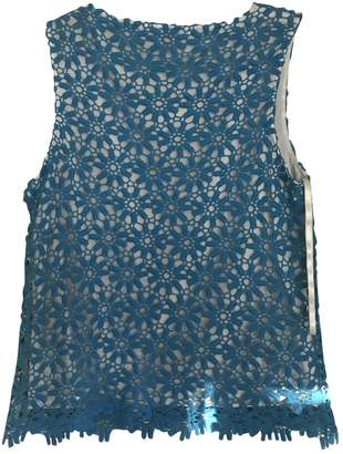 Vince Camuto Blue Cotton Top for Women