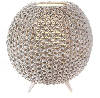 Casa Uno Sheik Honeycomb Table Lamp, White