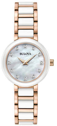 Bulova Analog Diamond Collection Two-Tone Bracelet Watch