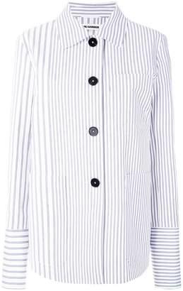 Jil Sander striped boxy jacket
