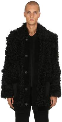 Diesel Black Gold Furry Shearling Coat