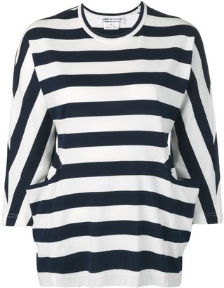 Comme des Garcons striped crew neck sweater