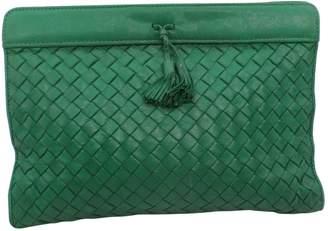Bottega Veneta Vintage Green Leather Clutch Bag bbf2e1e25d054