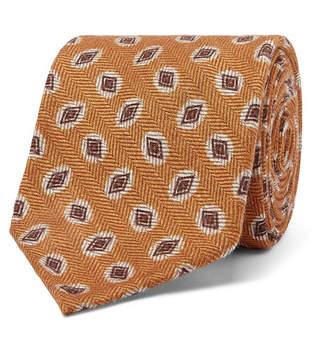 Rubinacci 7.5cm Wool And Silk-Blend Jacquard Tie