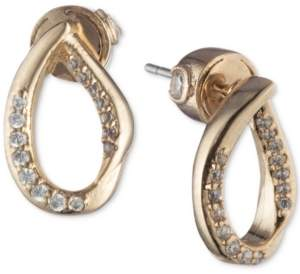 Carolee Gold-Tone Pave Sculptural Stud Earrings