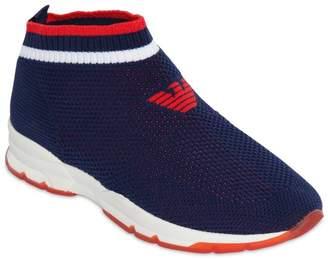 Emporio Armani Slip-On Knit Sneakers