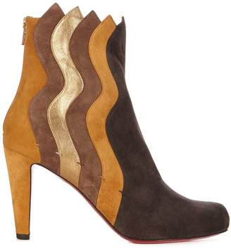 Christian Louboutin Wavy 95 panelled suede ankle boots