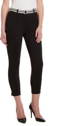 Rafaella Belted Pintuck Skinny Pants