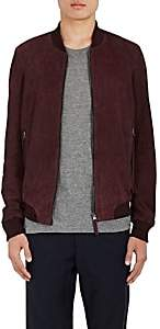 Barneys New York Lot 78 x LOT 78 X MEN'S SUEDE BOMBER JACKET - MD. RED SIZE 48