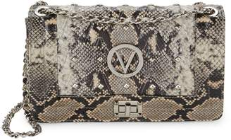 Call Of The Wild Valentino By Mario Valentino Alice Snake-Embossed Leather Boxed Shoulder Bag