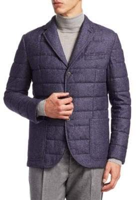 COLLECTION Quilted Wool Blazer
