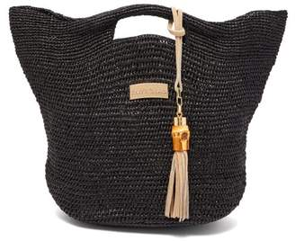 Heidi Klein Grace Bay Mini Raffia Bucket Bag - Womens - Black