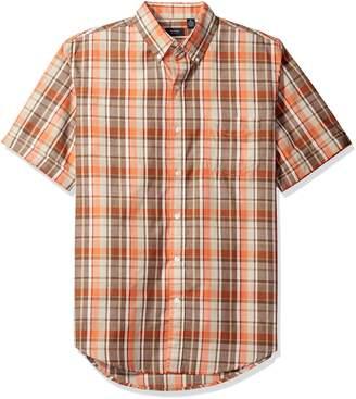 Arrow Men's Short Sleeve Pacific Coast Madras Plaid Shirt