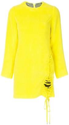 Facetasm x Woolmark lace-up fastening detailed dress