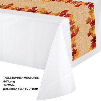Creative Converting Fall Leaves Plastic Table Runner