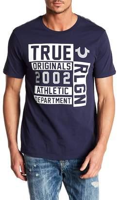 True Religion Block U True Short Sleeve Crew Neck Tee