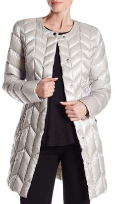Via Spiga Chevron Puffer Jacket