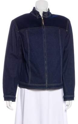 St. John Sport Structured Denim Jacket