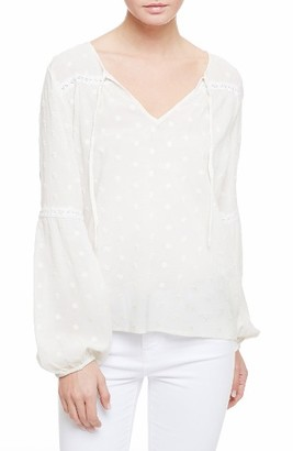 Women's Sanctuary Gabby Eyelet Embroidery Peasant Blouse $99 thestylecure.com