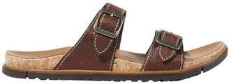 L.L. Bean L.L.Bean Women's Eco Comfort Leather Sandals, Two-Strap