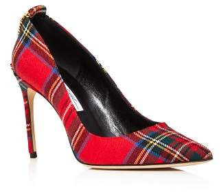 Brian Atwood Women's Voyage Pointed Toe Plaid High-Heel Pumps