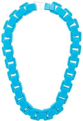 Wanda Nylon flocked chain choker necklace