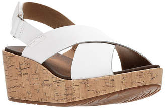 b97bf51be66 Clarks White Wedge Women s Sandals - ShopStyle