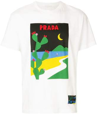 Prada cactus logo print T-shirt