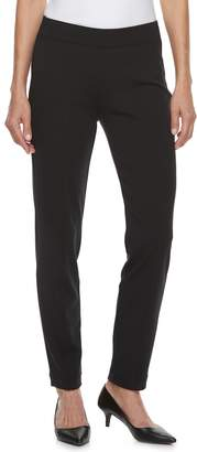 Croft & Barrow Petite Easy Care Straight-Leg Ponte Pants