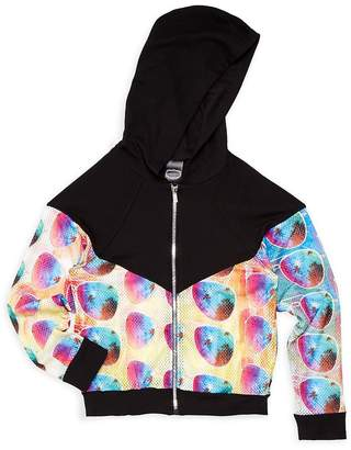 Zara Terez Girl's Printed Zip-Front Hoodie