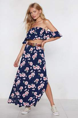Nasty Gal When a Plan Comes Together Floral Top and Maxi Skirt